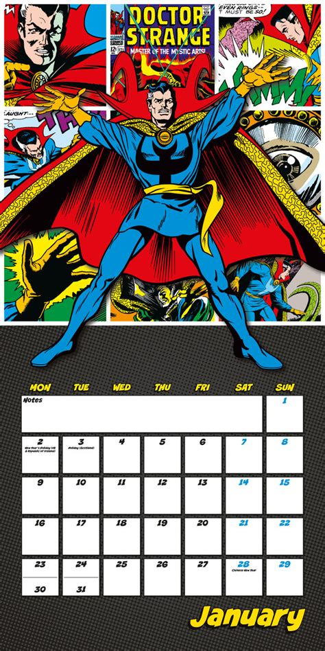 2018 of marvel wall calendar day marvel comics calendars 2018 on europosters