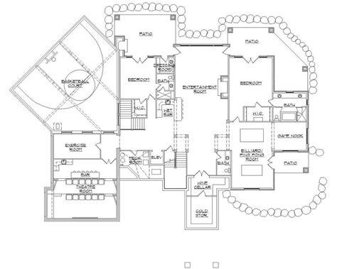House Plans With Basketball Court | 135 1036 floor plan basement house plans pinterest