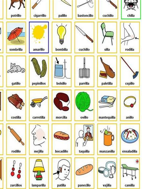 imagenes y palabras con v u 14 lengua palabras terminadas en illo illa palabras