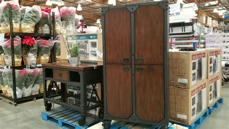 metal and wood cabinet costco whalen 72 in industrial wood metal cabinet 289