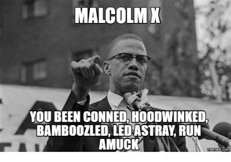 X I Meme - malcolm x you been conned hoodwinked bamboozled ledastray
