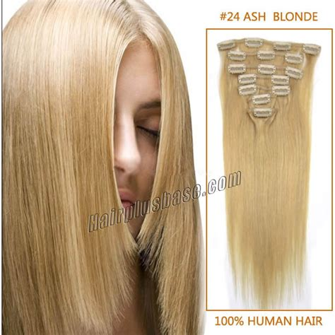 18 inch clip in human hair extensions 18 inch 24 ash clip in remy human hair extensions 9pcs