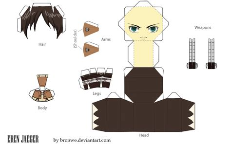 Papercraft Templates Anime - papercraft templates anime papercraft