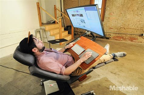 lay down desk chair this 5 900 desk will let you work lying down bored panda