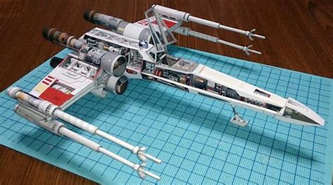 X Wing Papercraft - make your own wars x wing starfighter paper craft