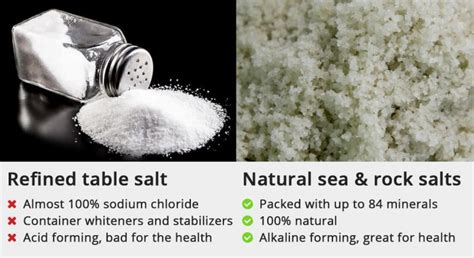 kosher salt vs table salt rock salt vs sea salt