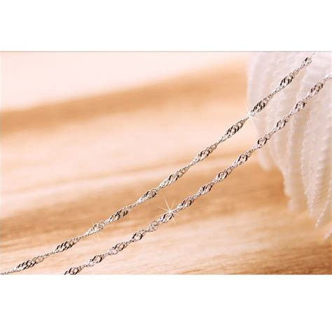 Kalung Choker Shape Cn2241 necklace with water wave shape 925 sterling silver