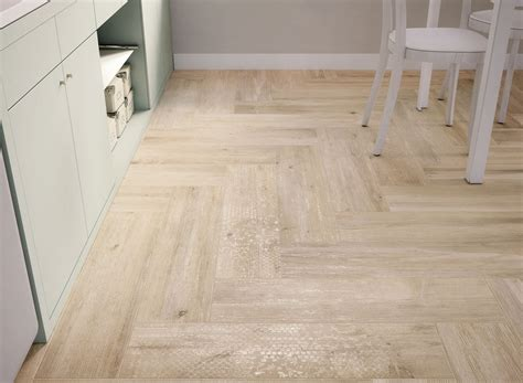 Light Tile Floors by Wood Look Tiles