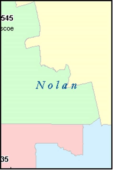 nolan county texas map nolan county texas digital zip code map