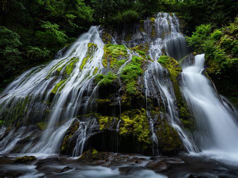 waterfalls gifford pinchot national forest washington usa