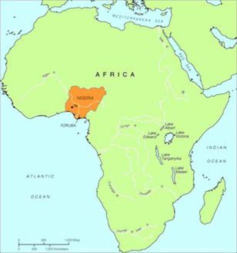 yoruba africa map teachartwiki divinersbowl