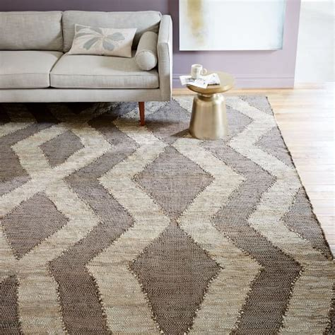 recycled leather rug woven recycled leather rug west elm
