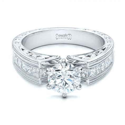engraved engagement rings custom engraved engagement ring 102035