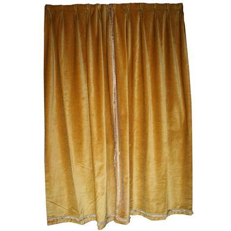 velvet drapes on sale pair of rich gold velvet drapes for sale at 1stdibs