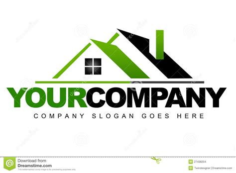 real estate house logo real estate logo stock images image 27438204