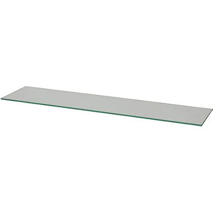 duraline glass rectangular shelf 80cm
