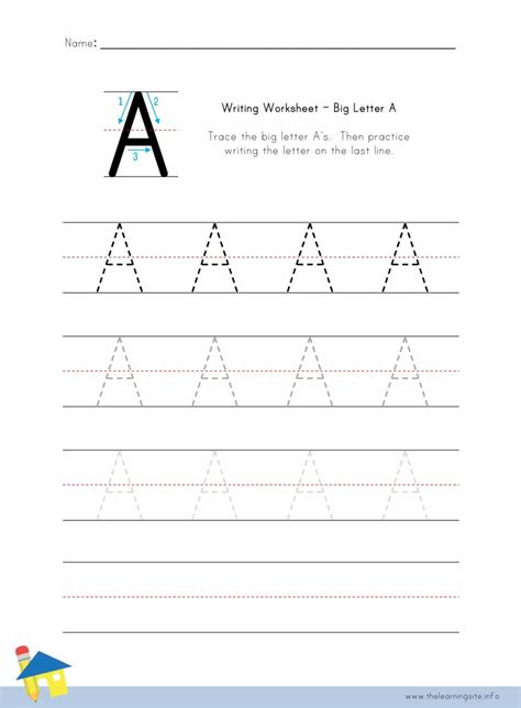 Free Printable Letter Worksheets by Letter A Writing Worksheets Wiildcreative