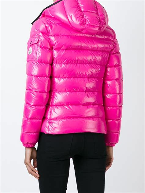 light pink moncler jacket lyst moncler bady quilted jacket in pink