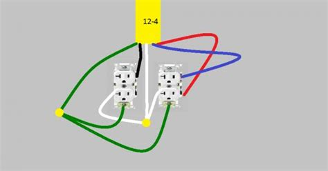 12 4 electrical wire 12 4 to wire one constant duplex receptacle and one