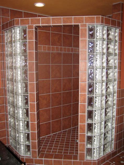 glass block bathroom ideas custom shower glass block traditional tile