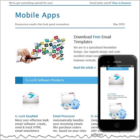 apps email templates mobile apps free html e mail templates