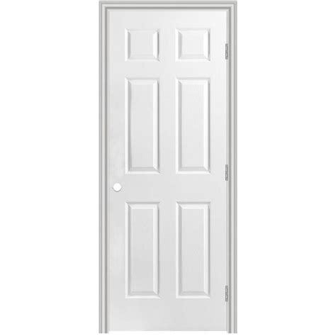 32x80 Interior Door Shop Masonite Prehung Hollow 6 Panel Interior Door Common 32 In X 80 In Actual 33 5 In