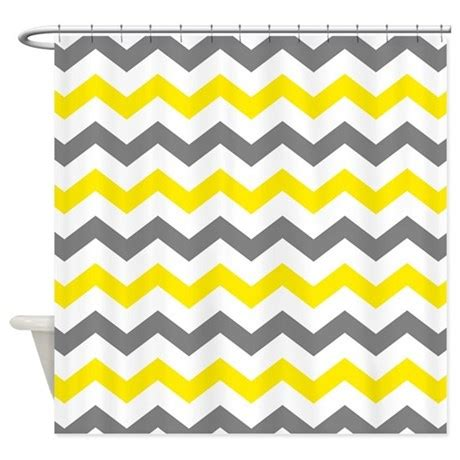 yellow and gray chevron shower curtain yellow and gray chevron pattern shower curtain by