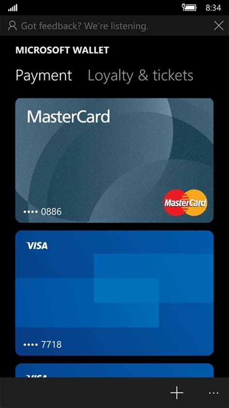 How To Use Visa Gift Card On Microsoft Store - how to set up and use microsoft wallet on windows 10 mobile on msft