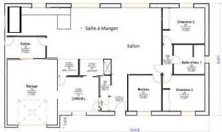 plan de plain pied 3 chambres 120m2