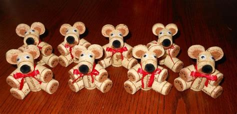 too old to buy a house teddy bears made from old wine corks too cute buy them