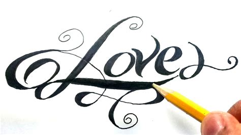 imagenes k digan i love you como dibujar la palabra love paso a paso how to draw