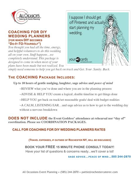 Wedding Planner Packages by Wedding Planning Packages All Occasions Catering