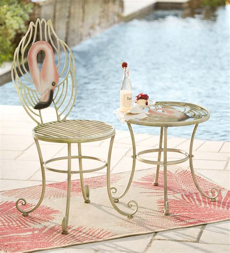 Floor Vases Home Decor by Flamingo Table Amp Metal Chair Set Flamingos Wind Amp Weather