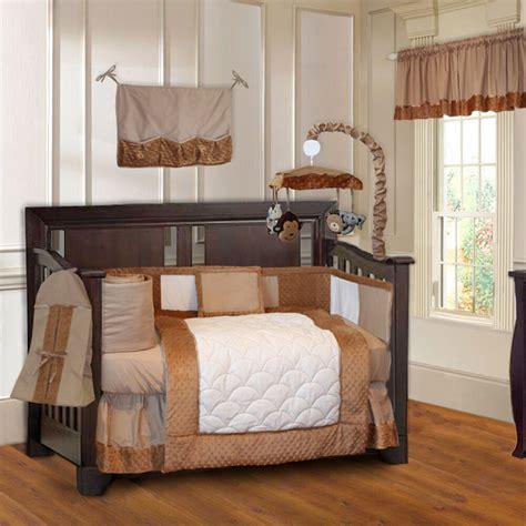 Baby Boy Crib Bedding Set by Babyfad Minky Brown 10 Boys Baby Crib Bedding Set