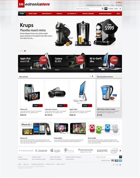 Em Electronics Magento Theme Electronic Magento Template Magento 2 Homepage Template