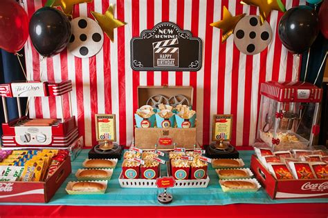 Home Theatre Decorations by A Hollywood Movie Themed Party Everyday Party Magazine
