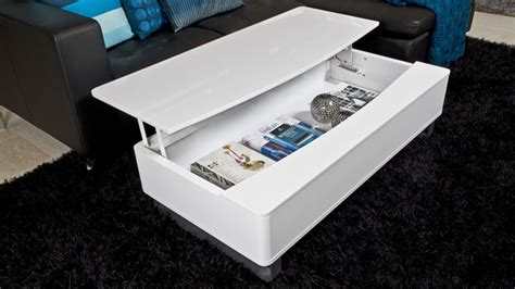 white coffee table with storage contemporary white coffee table storage attractive
