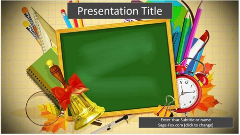 powerpoint templates school theme free school supplies powerpoint template 6498