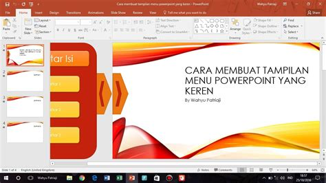 cara membuat power point proposal skripsi cara membuat animasi menu pada powerpoint keren youtube
