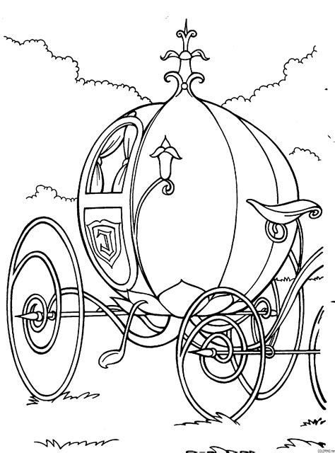 pumpkin carriage coloring page cinderella pumpkin carriage coloring pages coloring