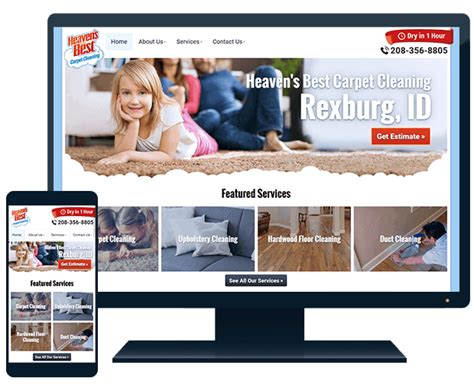 Website Signup Heaven S Best Carpet Cleaning Carpet Cleaning Website Template