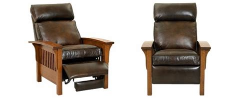 mission style leather recliner club furniture