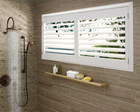 plantation shutters in bathroom hunter douglas plantation shutters living room traditional