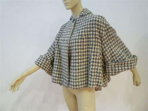 cropped swing coat lilli ann 40s sporty tweed wool flared cropped swing coat