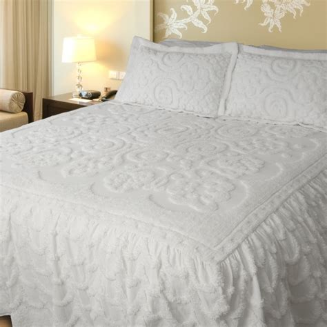 white bed spread white chenille bedspread king size decor ideasdecor ideas