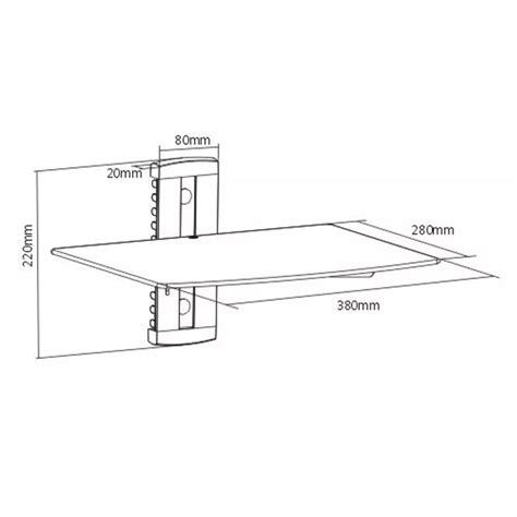 mensola di vetro articoli per mensola di vetro montaggio a muro per dvd