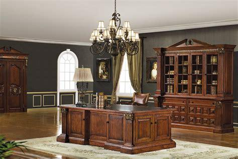 executive desk set  mahogany cherry finish
