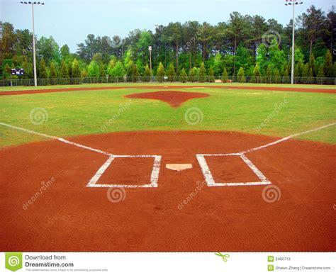 Mit Freundlichen Grã ã En Zeile Baseball Feld Stockfotos Bild 2460713
