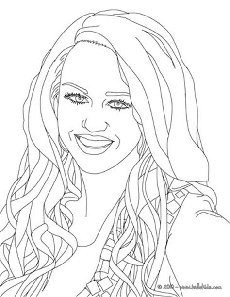 miley smiling close up coloring pages hellokids com