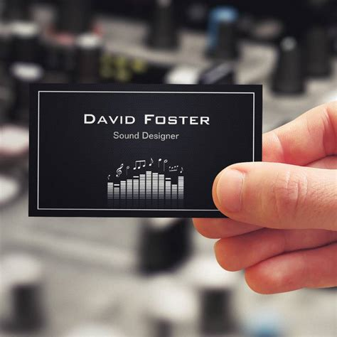 filmmaker business cards templates tv audio sound designer director business card